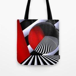 red white black -21- Tote Bag