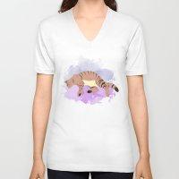 sleeping beauty V-neck T-shirts featuring Sleeping Beauty by Sarah Bihour