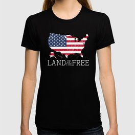 Land of the Free 4th of July Patriot Memorial Day T-shirt
