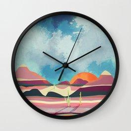 Pink Desert Glow Wall Clock