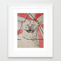doge Framed Art Prints featuring The Doge by Caesarie