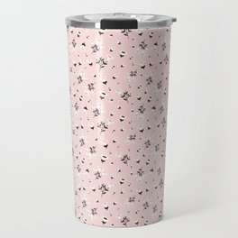 Dusty Pink Autumn Florals Travel Mug