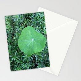 nasturtium leaf Stationery Cards