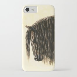 Black Friesian Draft Horse iPhone Case