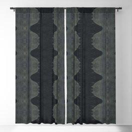 Moody Dark Indigo Shibori Blackout Curtain