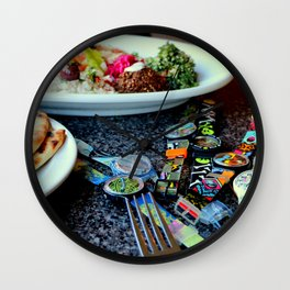 Middle Eastern Swatch Salad Wall Clock