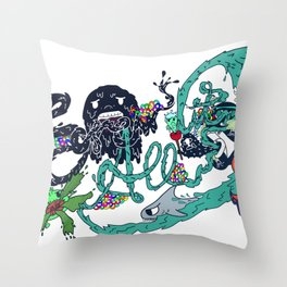 Screw it All (Color) Throw Pillow