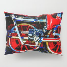 Piston Rod Driving Gear Of A Vintage Steam Locomotive Pillow Sham