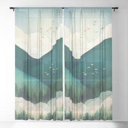 Emerald Hills Sheer Curtain
