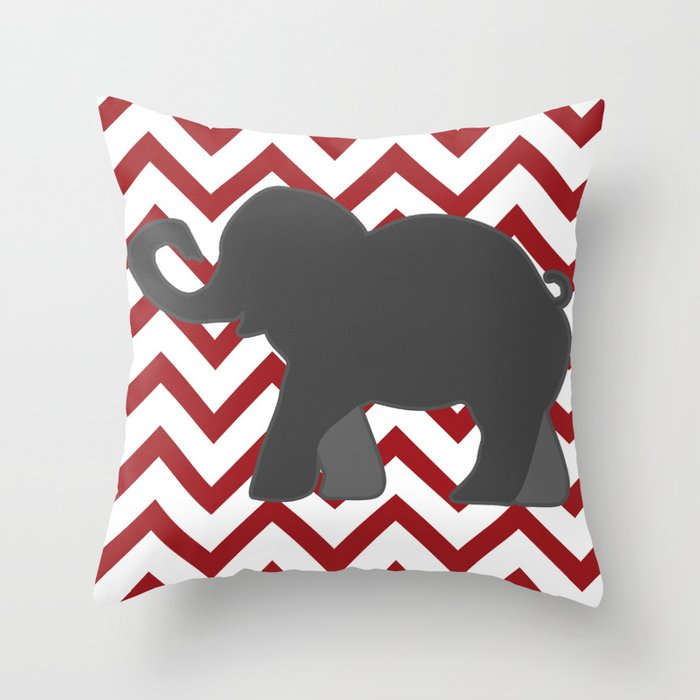 Roll Tide Elephant Crimson Tide Alabama Throw Pillow By
