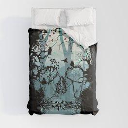 Dark Forest Skull Comforters
