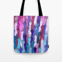 angry bisexual Tote Bag