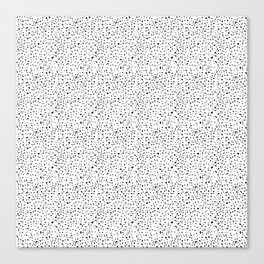 spotty dotty in black and white Canvas Print