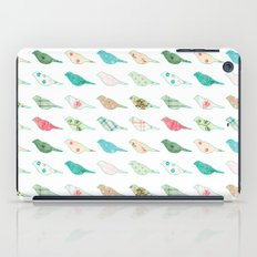 Pastel patterned birds iPad Case
