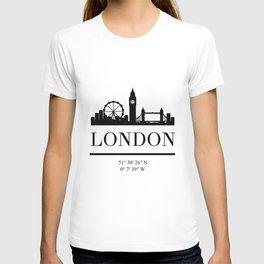 LONDON ENGLAND BLACK SILHOUETTE SKYLINE ART T-shirt