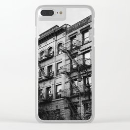 White Shadows Clear iPhone Case