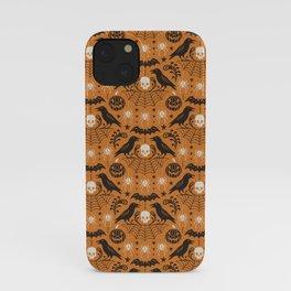 All Hallows' Eve - Orange Black Halloween iPhone Case