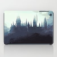 harry potter iPad Cases featuring Harry Potter - Hogwarts by Juniper Vinetree