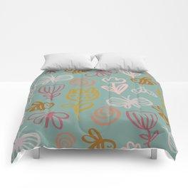 Bee with Flowers Comforters