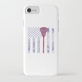 Lacrosse Flag iPhone Case