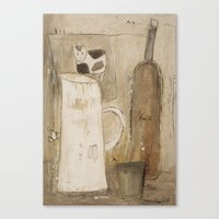 milk Canvas Prints featuring milk by woman