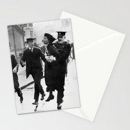 Suffragette Emmeline Pankhurst Being Arrested (May 1914) Stationery Cards