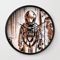 2001 Wall Clocks featuring 2001 by Joe Badon
