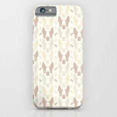 Boston Terrier Wood Pattern iPhone 6 Slim Case