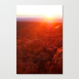 Sunrise on the Volcano Canvas Print
