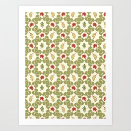 Trendy Festive Xmas Quilt Seamless Art Print