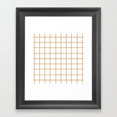 Grid (Bronze/White) Framed Art Print