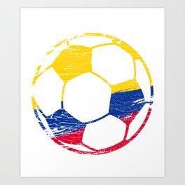 Colombia Soccer Ball  Football Lover Art Print