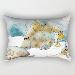Polar Tea Party Rectangular Pillow
