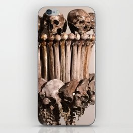 Catacomb Culture - Human Skull Bone Lamp iPhone Skin