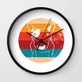 Vintage Bull Terrier Lover Retro Breed Puppy Silhouette Gift Wall Clock