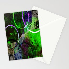 Other Dimensions - Abstract, geometric, textured, space themed artwork Stationery Cards