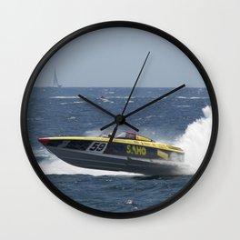 Powerboat Racing Wall Clock