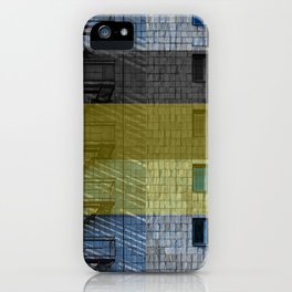 Facade with fire stairs iPhone Case