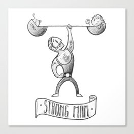 Strong Dad Canvas Print