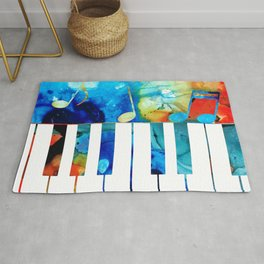 Colorful Piano Art by Sharon Cummings Rug