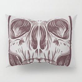 Front Skull Pillow Sham