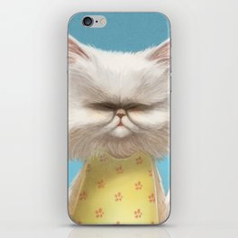 A cat holding a flower iPhone Skin