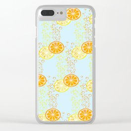Orange & Lemon Fizz Clear iPhone Case