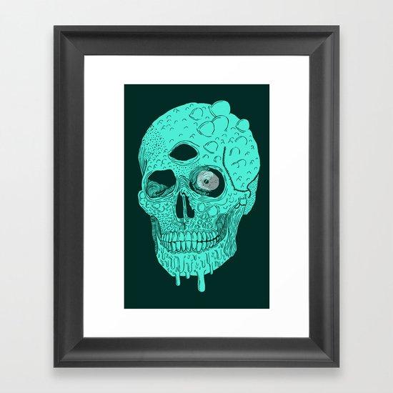 Beetle Skull  Framed Art Print