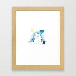 Snow Body Loves Me Framed Art Print