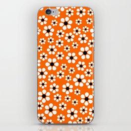 Dizzy Daisies - Orange iPhone Skin
