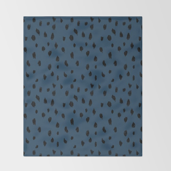 Seeing Spots in Midnight Martini Throw Blanket