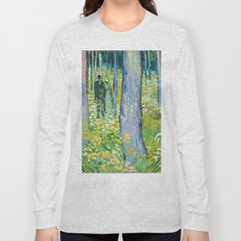 Undergrowth with Two Figures by Vincent van Gogh Long Sleeve T-shirt