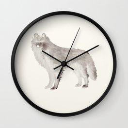 wolf loup Wall Clock