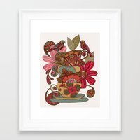 good morning Framed Art Prints featuring Good Morning by Valentina Harper